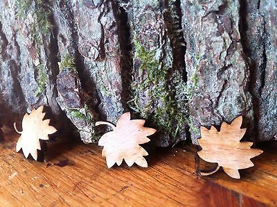 Chic Wedding Table Decoration Little Wooden Maple Leaves X100 Uk Confetti Craft