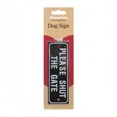 Rosewood Pet Cat Dog Small Animal Training & Control Warning Signs Shut The Gate
