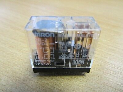 2 x Omron G2R-2 48VDC relays, DPDT; 5A/250VAC; 5A/30VDC; PCB mounted; NEW !!