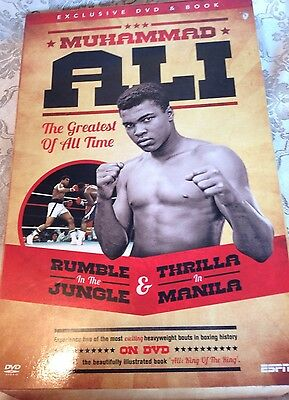 MUHAMMED ALI EXCLUSIVE ESPN DVD & Book - 2 Classic Fights