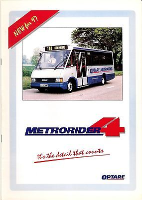 Bus Manufacturer Specification Brochure - Optare Metrorider 4 - New for 97: 1996