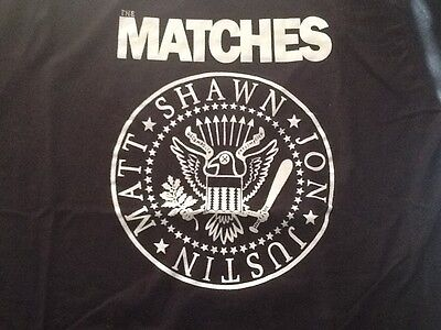 The Matches Band Large NEW T Shirt Ramones 2016 Decomposer E Von Dahl The Locals