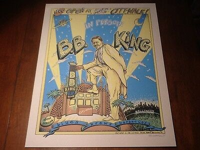 Emek BB King poster mint / near mint SIGNED. Very rare one of Emek's first!