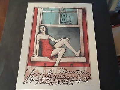 Yonder Mountain string band poster Farley Bookout Austin Stubbs 2012 of Horses