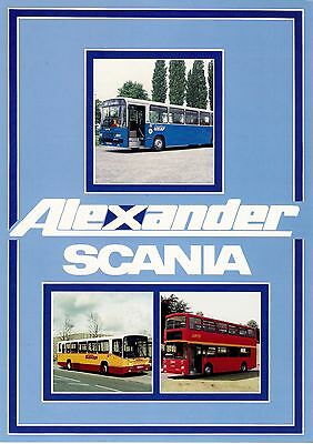Bus Manufacturer Specification Card - Alexander Bodywork on Scania Chassis: 1989