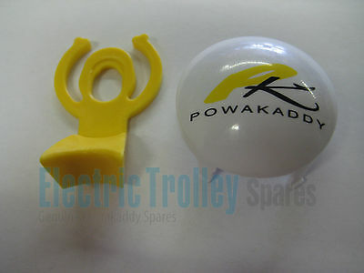 Powakaddy White Winter and Wide Wheel Hub Caps + Clips