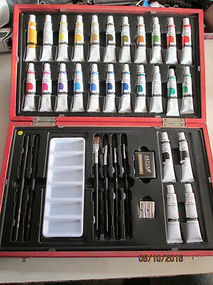 "Unused ""arturo"" Watercolour Set - 26 Tubes - Pencils - Brushes Etc"