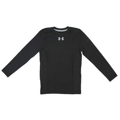 Under Armour Boys' ColdGear Infrared Everyday L/S Printed Shirt Black/Steel S