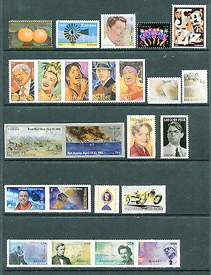 US 2011 Complete Commemorative Year Set NH 88 Stamps - 2 Sheets & 60 Stamps USA