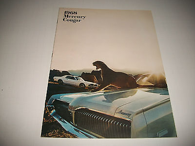 1958 Mercury Cougar Sales Brochure Cdn Issue Gt Gt-E Xr7 Super 302 390 427 Clean