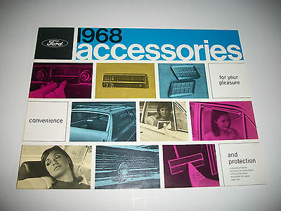 1968 Ford Accessories Brochure Clean Mustang Falcon Truck Cmystore4More