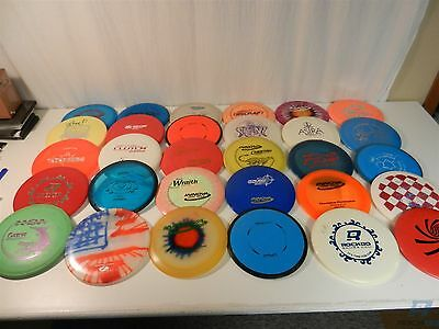 Lot of 30 Various Brands of Disc Golf Discs Drivers, Mid-Range, Putter