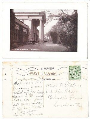 Early Postcard,Leicestershire, Leicester, The Museum, 1918