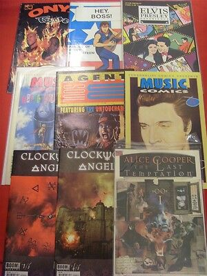 Rock Music Comic Book Lot Marvel Personality Rush Elvis Alice Cooper Rhcp Onyx