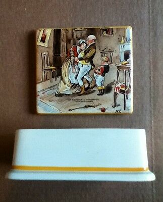 New Hall Hanley Staffordshire England Pickwick Papers cigarette holder