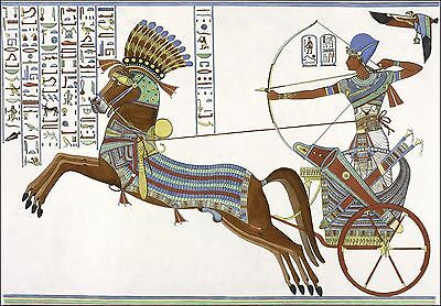 Ancient Egypt: Ramesses II at the Battle of Kadesh, 1274 BC. Fine Art Print