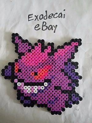 Gengar Pokemon Bead Sprite Perler Art Menu Icon