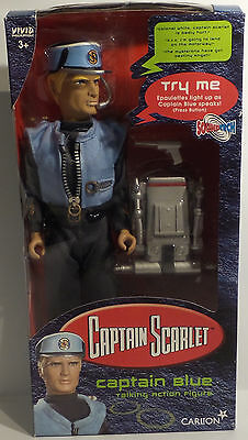 "Captain Scarlet : 12"" Captain Blue Action Figure Made By Viviv In 2001 (Sk)"