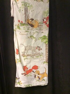 Walt Disney Fox And The Hound Rare Vtg 3 Piece Twin Bedroom Sheet Sets