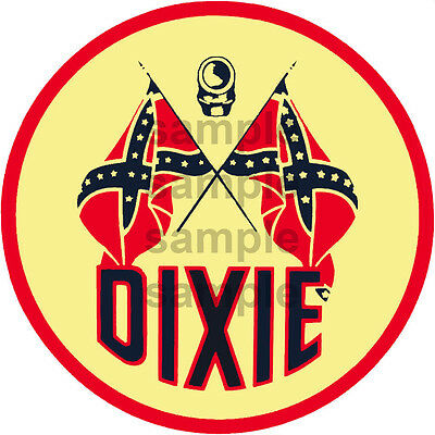 4 Inch Dixie Gasoline Gas Station Decal Sticker Several Sizes Available