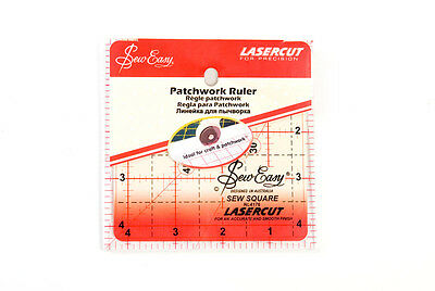 NEW Sew Easy NL4176 Acrylic Quilting Ruler 4½ square Sewing/Patchwork/Papercraft