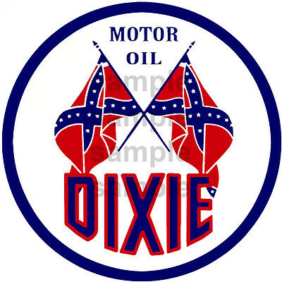 2 Inch Dixie Motor Oils Gas Station Decal Sticker Several Sizes Available