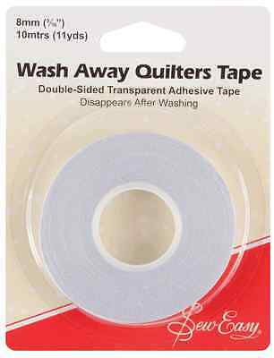 NEW | Sew Easy ER787 | Double Sided Adhesive Wash Away Quilters Tape | 8mm x 10m