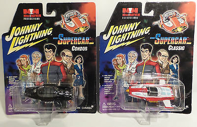 Supercar : Set Of 2 Supercar Die Cast Models Made By Johnny Lightning In 2003