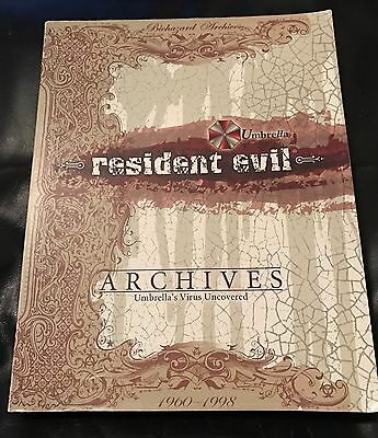 RARE Resident Evil Archives Book Umbrella's Virus Uncovered 1960-1998