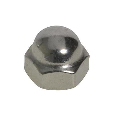 Dome Nut 2 Piece Welded M6 (6mm) Metric Coarse Acorn Hex Cap Stainless G304