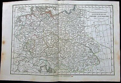 Austrian Empire Poland Germany Hungary Prussia 1825 scarce Delamarche old map