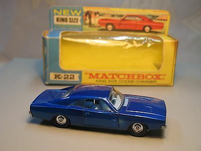 Matchbox, Lesney, King Size #K-22A Dodge Charger with original box