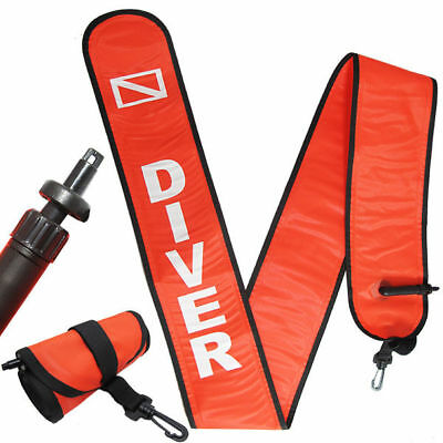 Scuba Diving 6ft Surface Marker Signal Tube Oral & Standard BC Hose Inflator