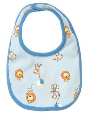 NWT Gymboree BRAND NEW BABY Lions & Monkeys Blue Reversible Bib