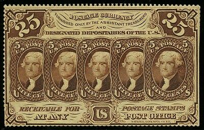 Fr1280 25¢ 1St Issue Fractional Currency Perforated Without Monogram Au+ Hw2295