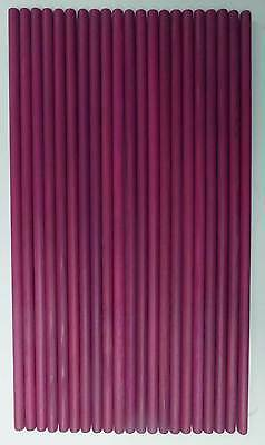 21 x Purple Wooden Dowel Rods