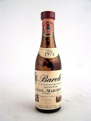 Miniature dated 1974 Mini-BAROLO Wine 8cm high B Isle of Wine