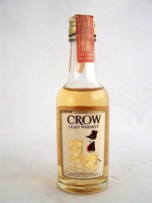 Miniature circa 1970 CROW LIGHT WHISKEY Isle of Wine