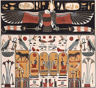 Ancient Egyptian Tomb Painting: Vulture,  Valley of the Kings. Fine Art Print