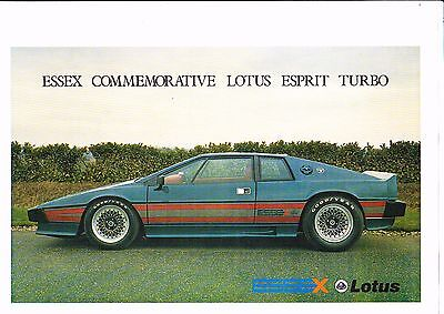 Lotus Esprit Essex Turbo Brochure - 1980-1981 - excellent condition