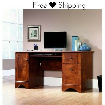 Solid Wood Computer Desk Home Office Furniture Writing Hutch Desktop  Workstation
