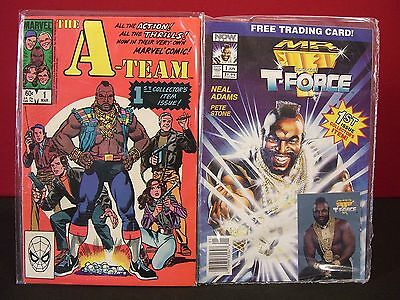 A Team 1984 Marvel #1 and 1993 Mr. T and the T-Force #1 Comic Collector Combo