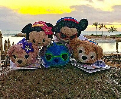 Aulani Exclusive Tsum tsum Stitch Mickey Minnie Shellie Duffy Complete 5 Set NWT