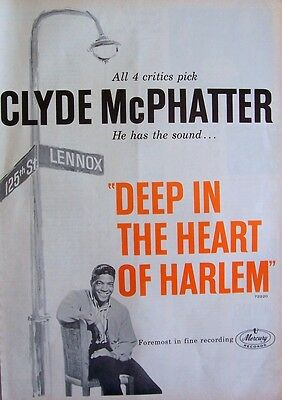 CLYDE McPHATTER 1963 Poster Ad DEEP IN THE HEART OF HARLEM