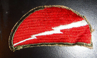 WW2 US Army 78th Infantry Division Patch Ribbed Weave Military Patch Very Old