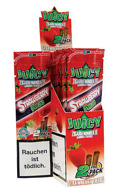 """""Strawberry""' 1 PACK X 2 BLUN..T JUICY JAYS DOUBLE PAPER - CIGAR ROLLING PAPER"