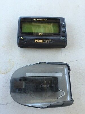 Vintage MOTOROLA Pagenet Page Net PAGER Beeper WITH HOLSTER