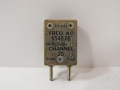 (1) Stand. Piezo 6540 KHz / 6.540 MHz FT-243 Crystal for Ham Radio