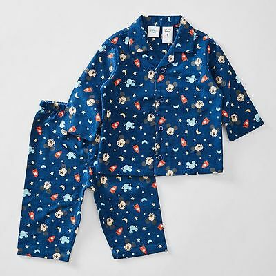 NEW Disney Baby Mickey Mouse Flannelette Pyjama Set