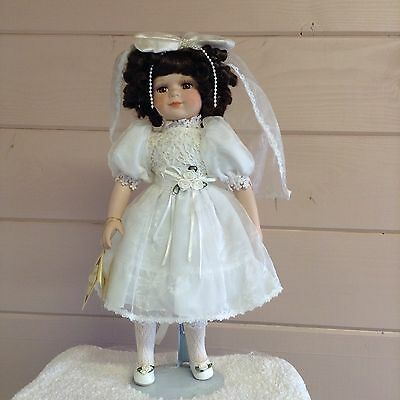 """""""Collectors Choice"""" Porcelain Collectible Doll in Communion dress"""